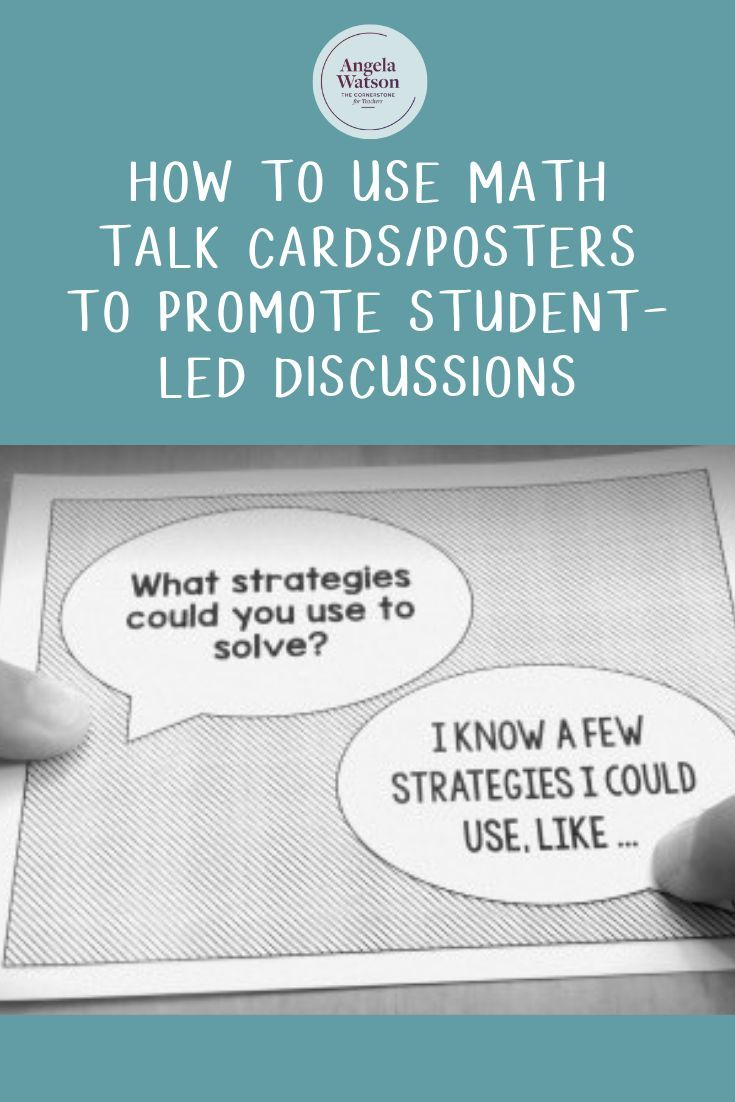 How to use math talk cardsposters to promote studentled
