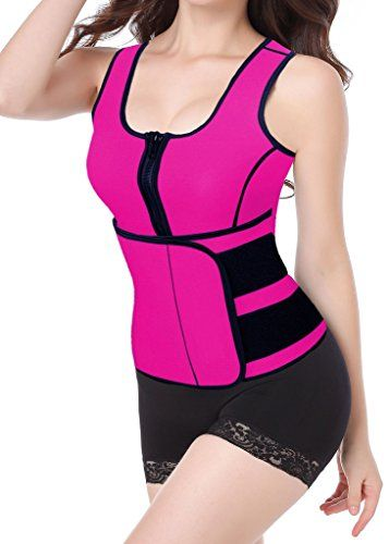 84c4d8b978 DDA Neoprene Sauna Suit Sauna Tank Top Vest with Adjustable Waist Trainer  Belt     Check this awesome product by going to the link at the image.