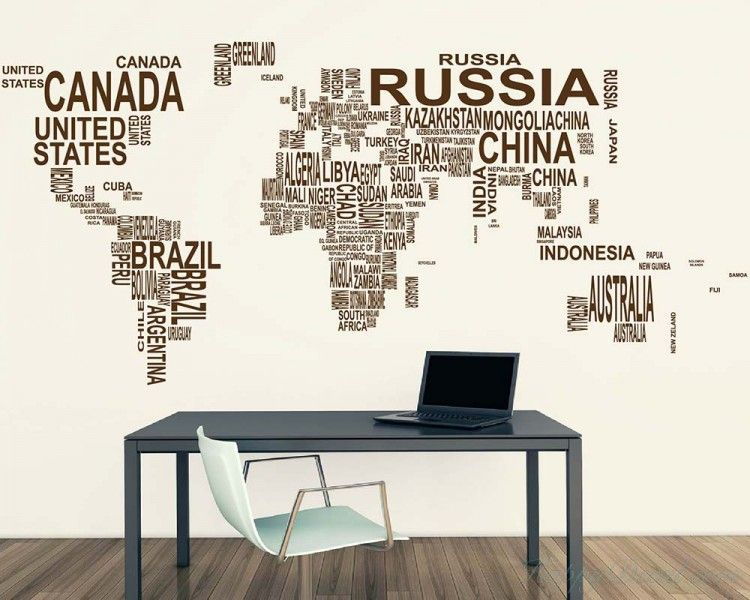 Wall Decall Is Not For Eternity World Map Country Names Vinyl