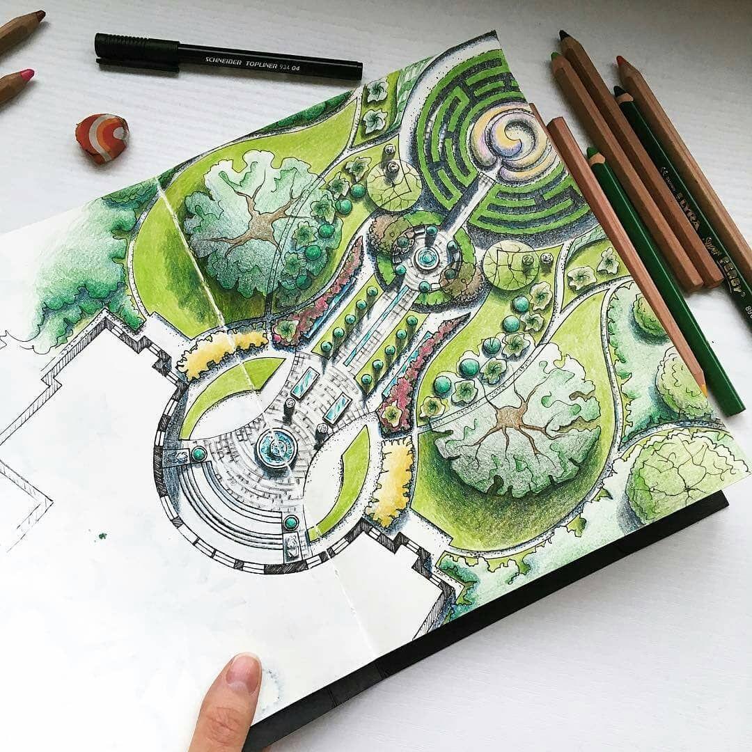 nice landspace design sketches