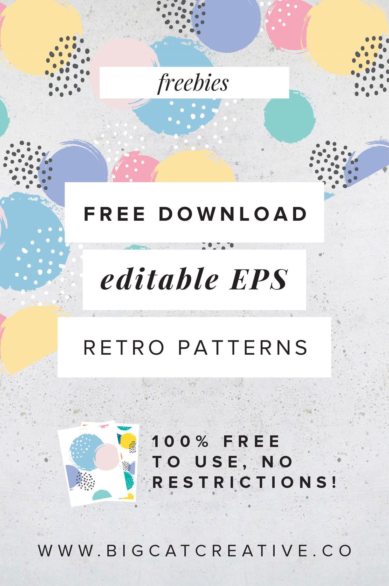 Freebie Retro Patterns Design Freebie Free Graphic Design