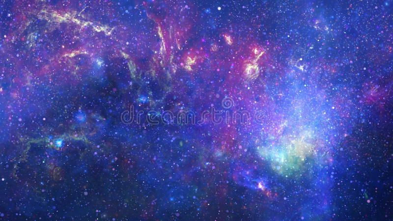 Zoom in galaxy. Space background for motion video