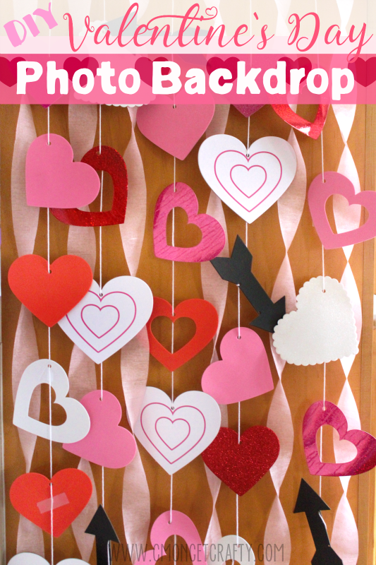 Create an Easy Valentine\'s Photo Backdrop with Dollar Store Finds ...