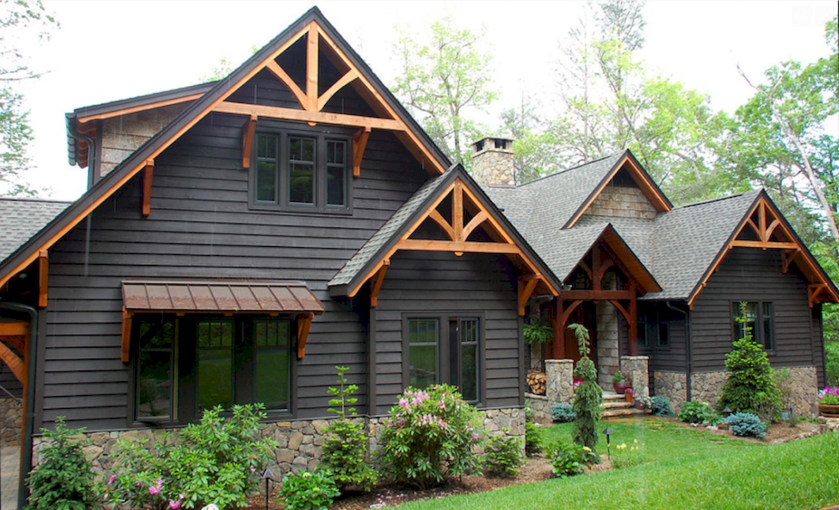 60 rustic farmhouse exterior decor ideas (20) | Addition ...