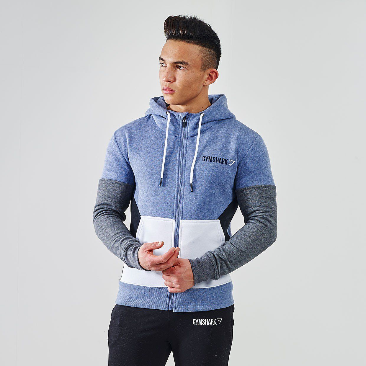f442002a Gymshark Fit Frontier Thermal Hoodie - Blue | Men's Athletic Wear ...