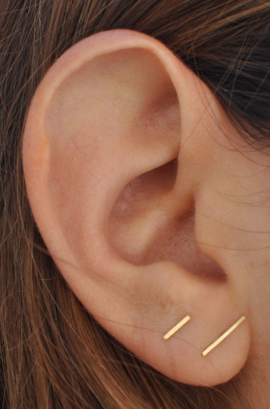034e8fd44 Love these staple/gold bar earings. Etsy might be the cheapest place to find