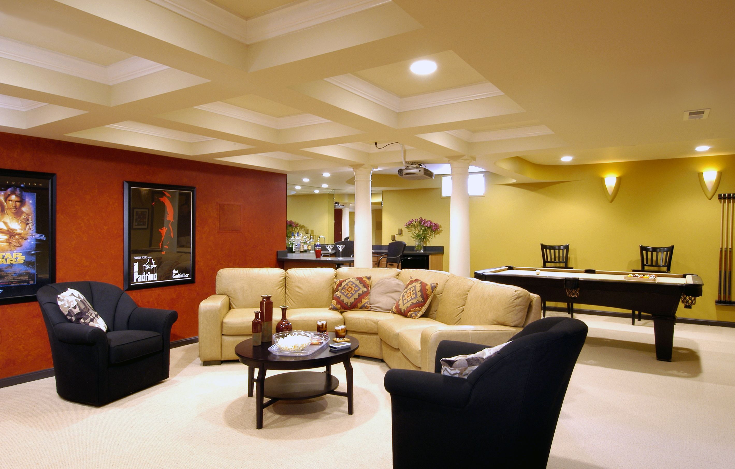 ideas space luury along furniture saving with decoration interior plus on basement finished home site picture