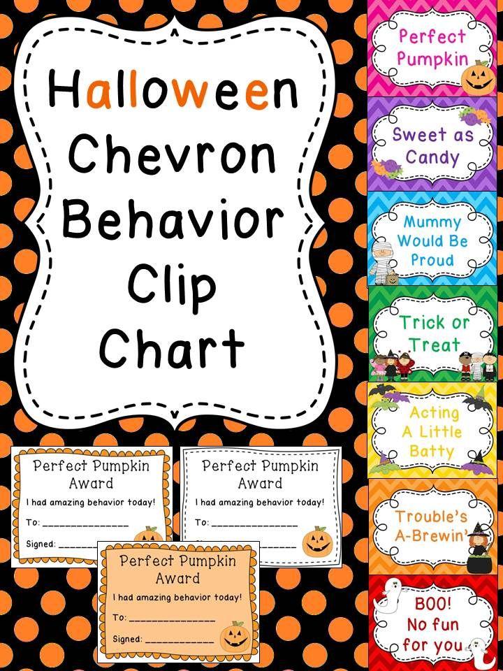 Halloween Clip Chart #♫♪ Classroom Organization/Management