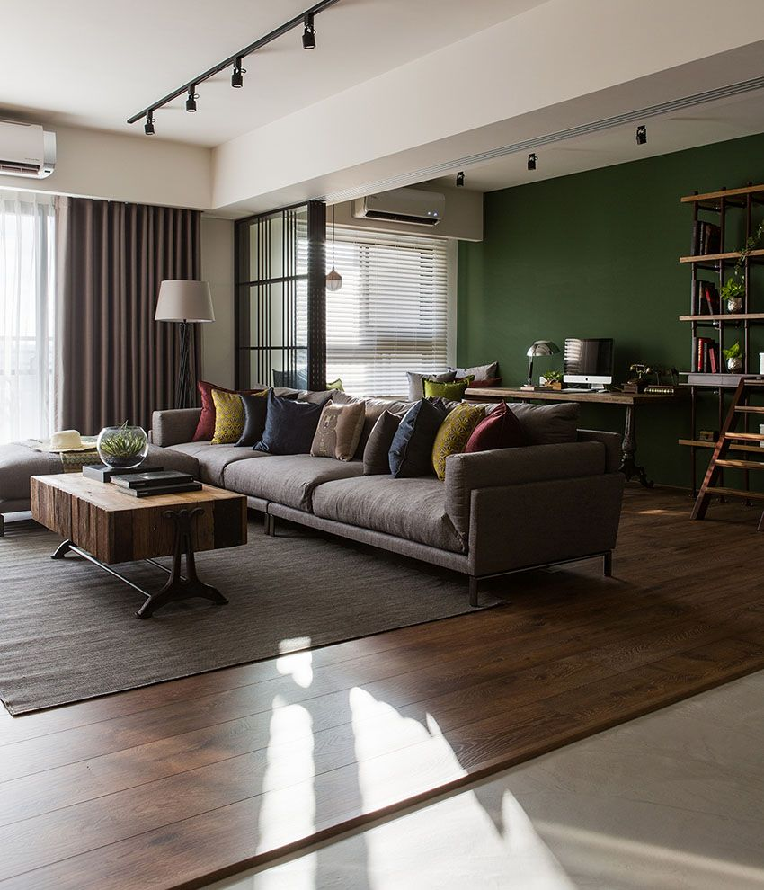 51 Modern Living Room Design From Talented Architects: 「專訪」輕工業風紅磚陽光屋