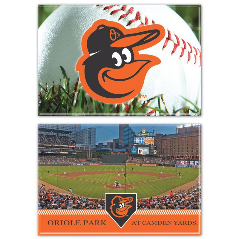 "Baltimore Orioles WinCraft 2-Pack 2"" x 3"" Magnets"