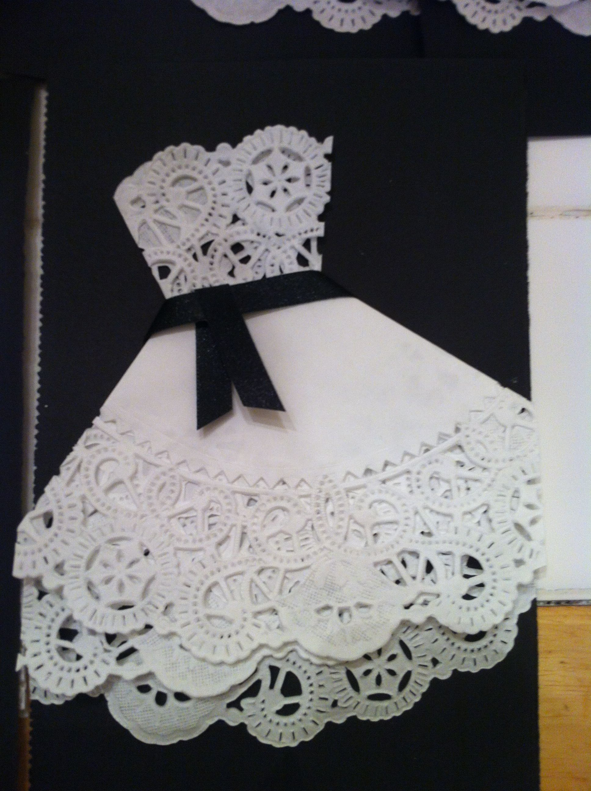 Bridal shower invites made with doilies! ...can make with all those ...