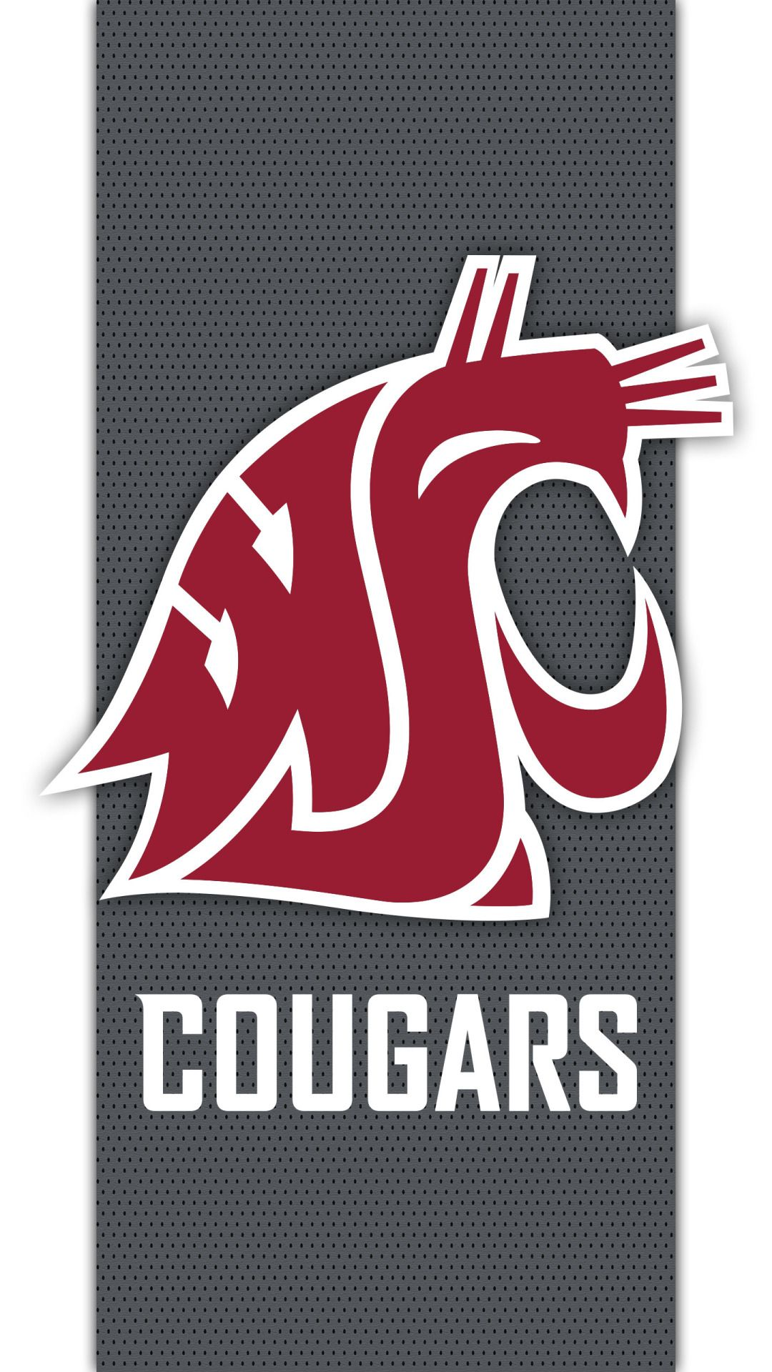Washington State CougarsA cell phone wallpaper based on the logo for the Washington State Cougars. Cougars football website is at: WSUCougars.com