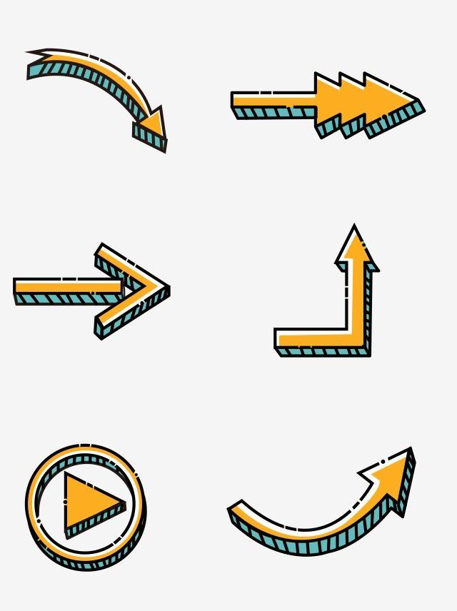 Simple Cute Cartoon Arrow Arrow Cartoon Arrow Creative Arrow Png And Vector With Transparent Background For Free Download Frames Design Graphic Arrows Graphic Graphic Design Background Templates