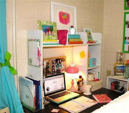 classic dorm desk bookshelf college dorm dorm desk dorm room rh pinterest com Dorm Room Microwave Dorm Room Sofa