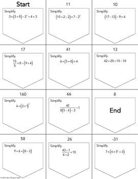 Order of operations ladder activity math properties pinterest order of operations ladder activity ccuart Choice Image