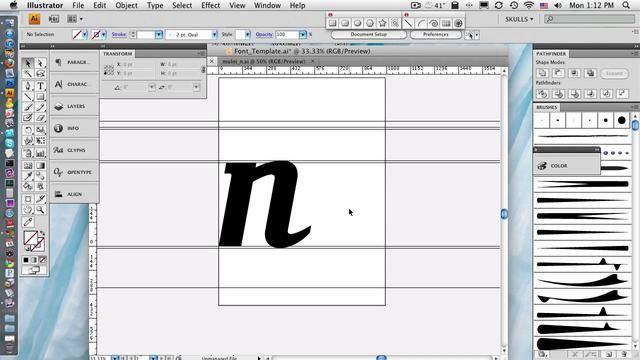Creating A Font In Fontlab Part 1 Web Design Fonts Cricut Vinyl
