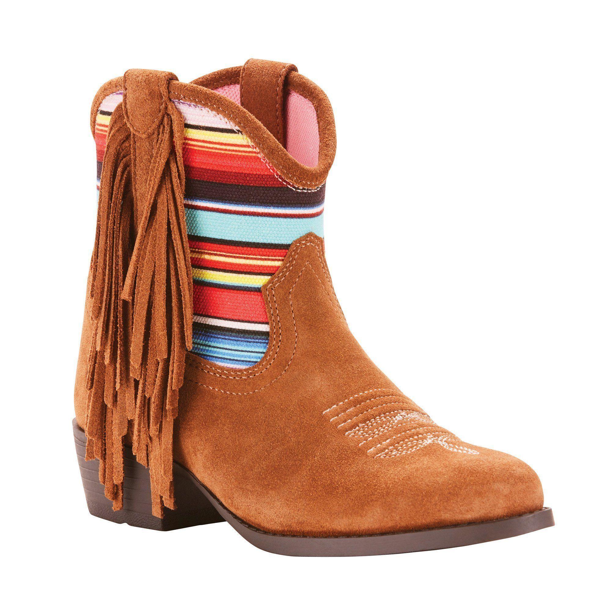 Ariat, leather, fringe Crazy Horse