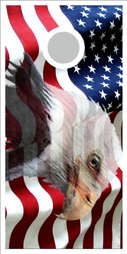 American Flag Eagle Cornhole Board Game Decal Wraps Cornhole Board