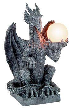 Amazing Dragon Light With Statue Art And Globe Lamp