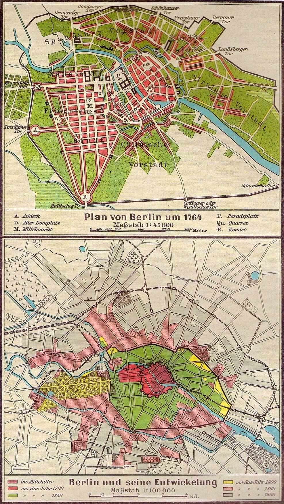 Die Reichshauptstadt 1871 Berlin Karte Historische Karten Alte Karten
