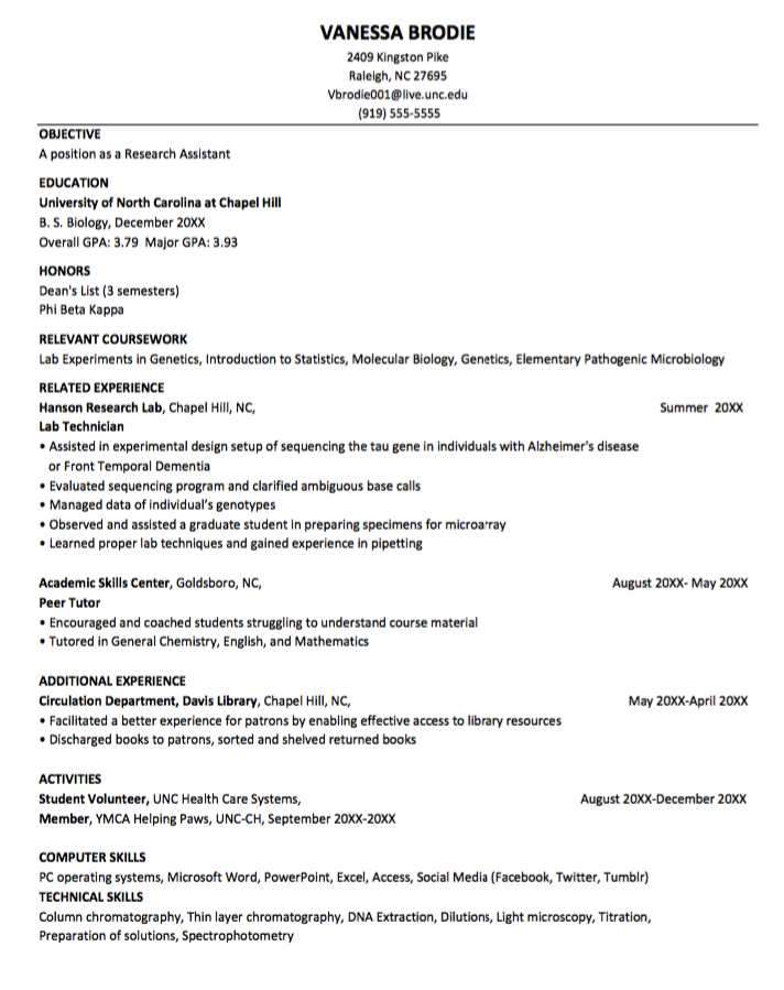 How To List Technical Skills On Resume Interesting Sample Resume For Research Assistant  Httpexampleresumecv .