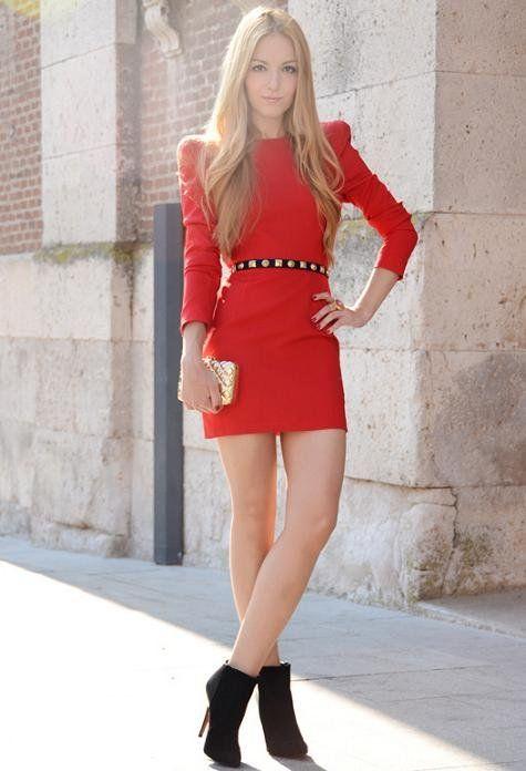 Vestidos rojos cortos a la moda