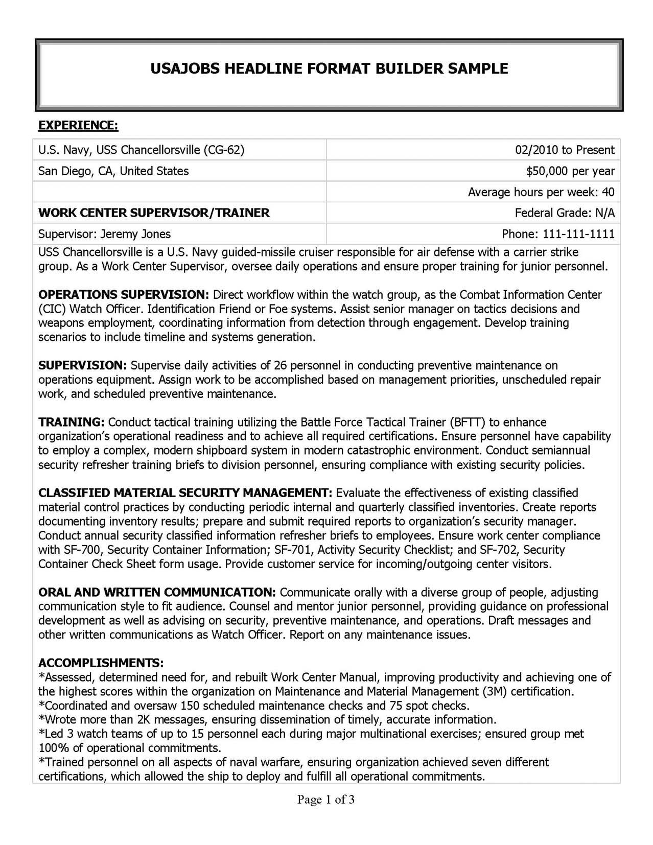 Military Resume Samples & Examples in 2014 MRW Resume