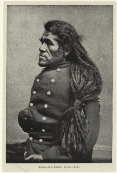 Native  American Man with dreadlocks.  1800'S
