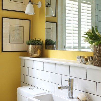 Small Yellow Bathroom   Small Space Design Ideas (houseandgarden.co.uk)