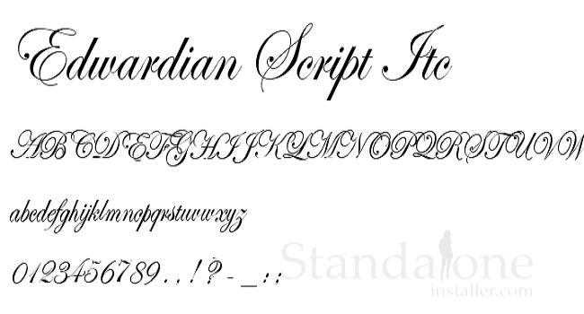 font edwardian script itc