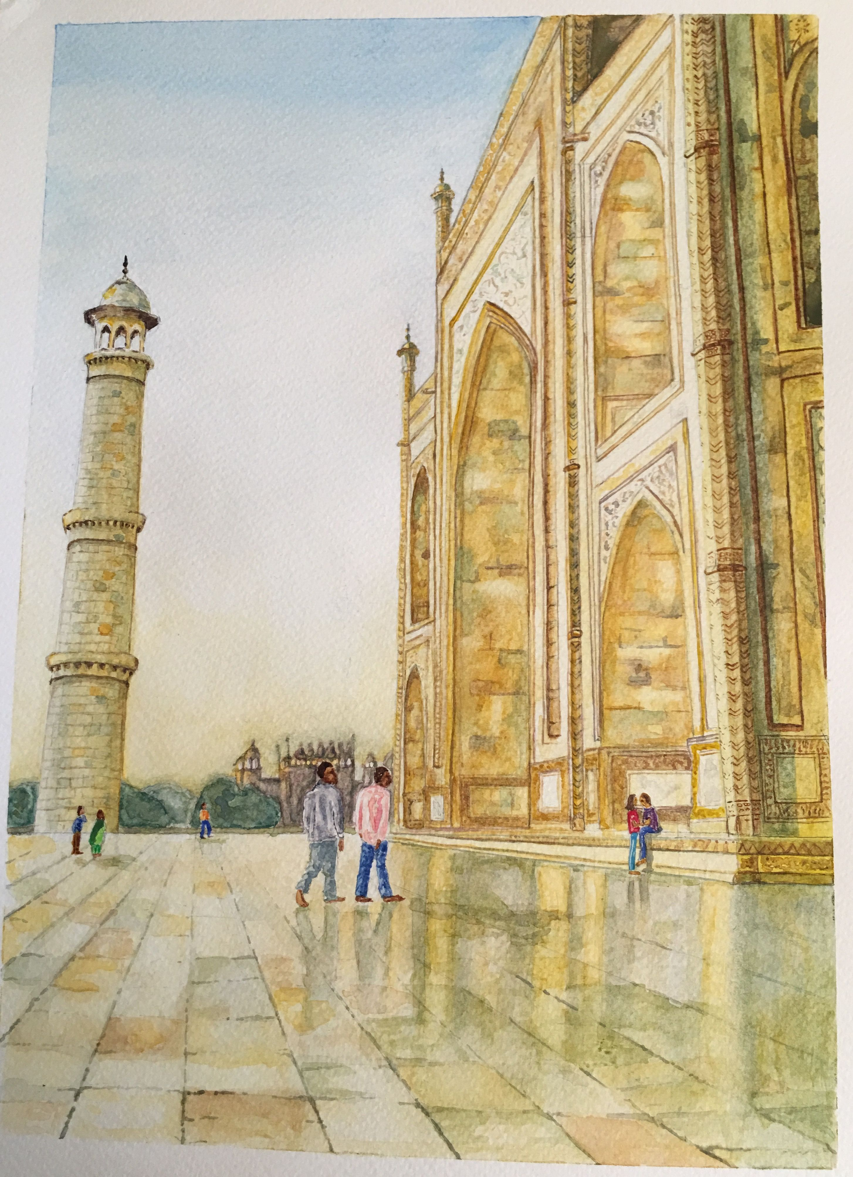 Magnificent Taj Mahal Wall Art Gift - Wall Art Collections ...