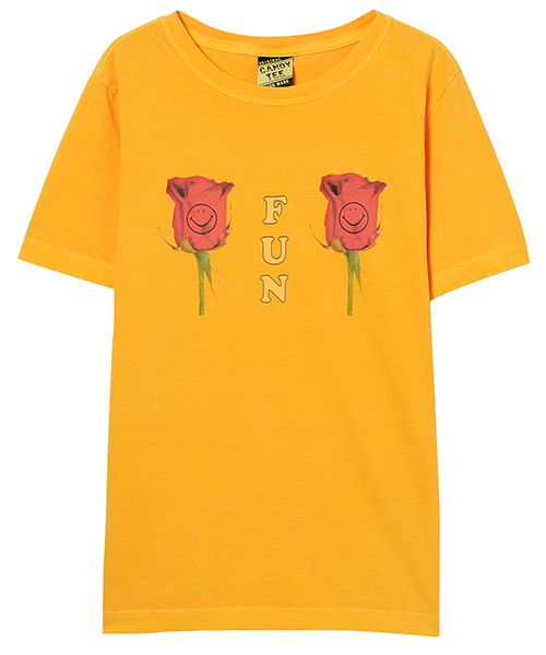 FUNNY ROSE TEE(GOLD YELLOW-1)