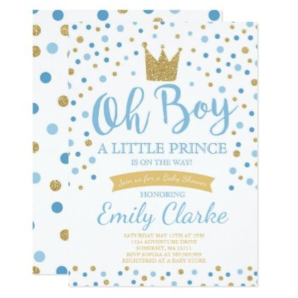 Little Prince Baby Shower Invitation Royal Shower  Shower Invitations