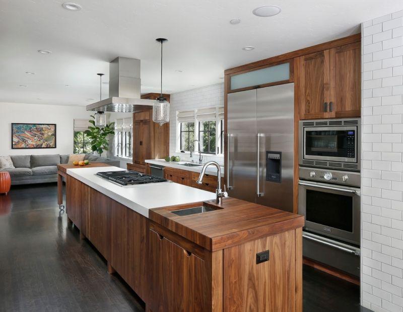 Cuisine rustique contemporaine 50 id es de meubles en bois - Customiser cuisine rustique ...