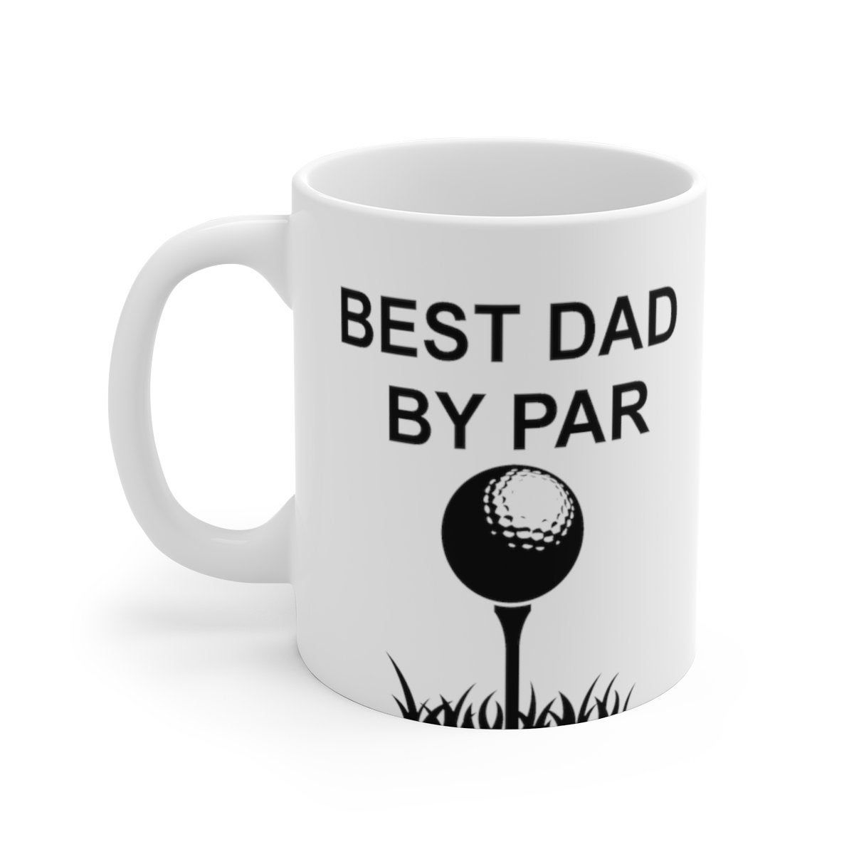 Best dad by par white ceramic fathers day mugdad gift