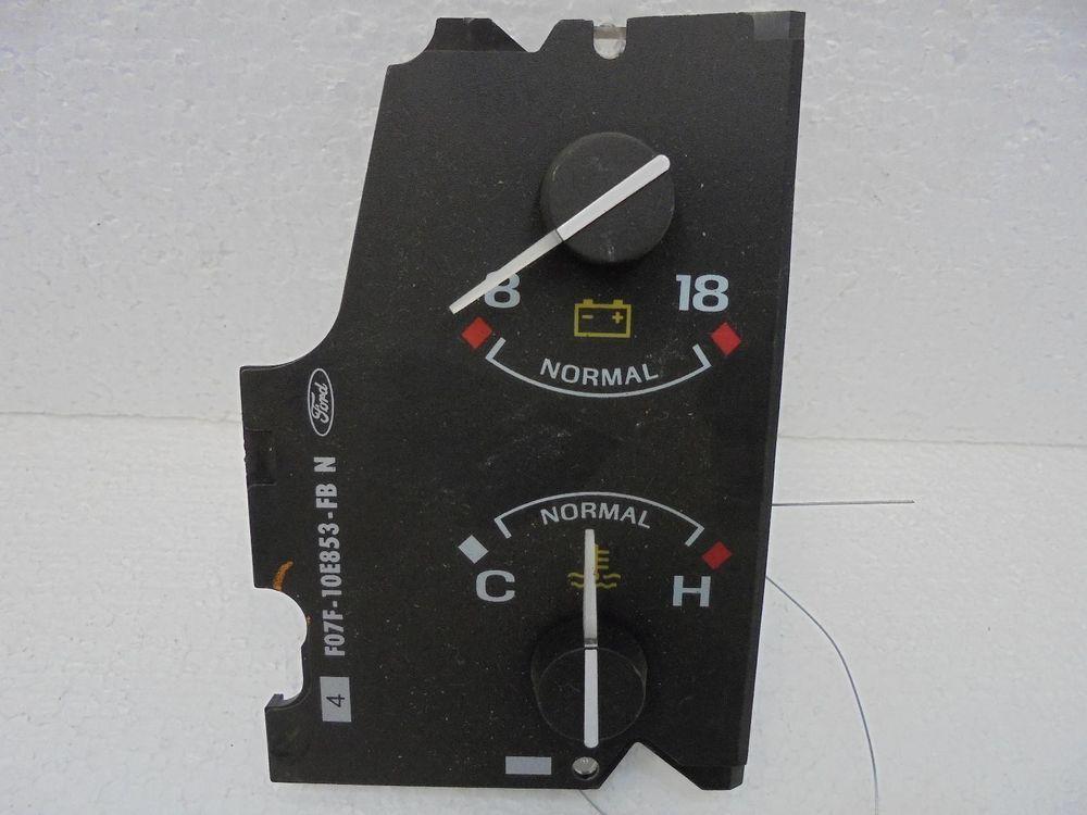 Ford explorer dash temperature voltage gauge wtach f07f