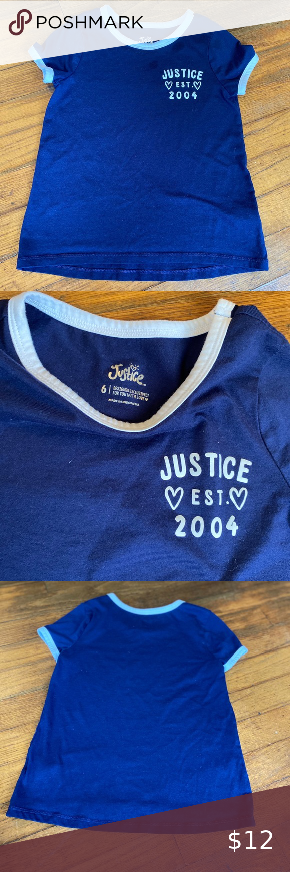 Girls Justice T Shirt Girls Size 6 Justice T Shirts Justice Shirts Tops Tees Short Sleeve Justice Tshirts Justice Shirts Tops