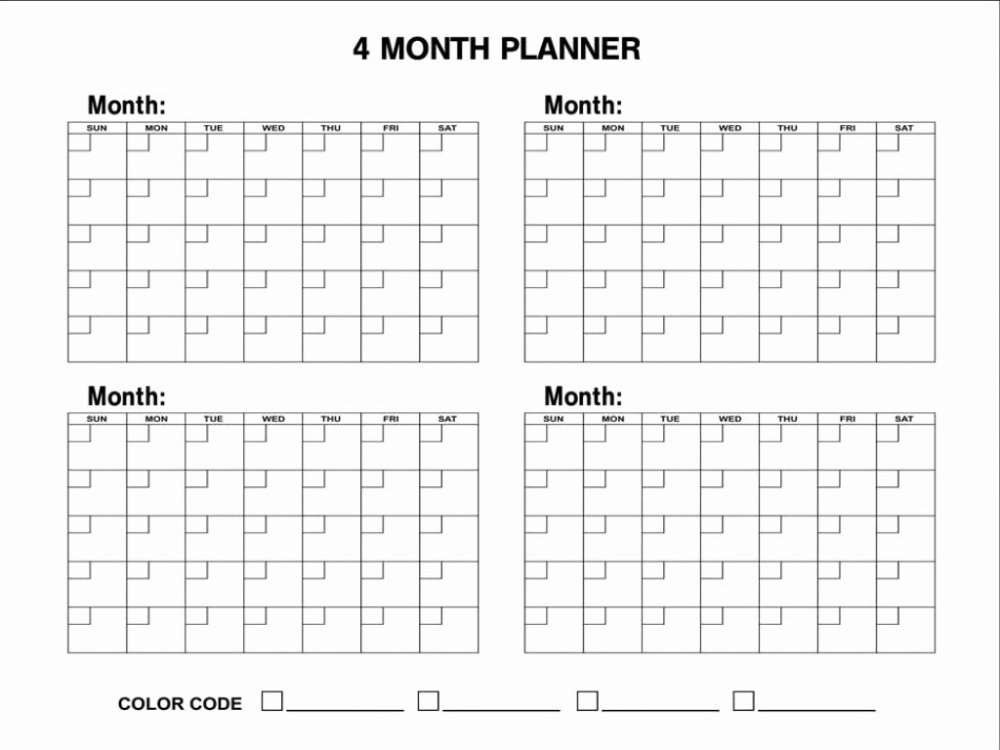 2019 Calendar 4 Months Per Page Printable Blank Calendar 2020 Calendar Printable 3 Months Monthly Calendar Template Blank Calendar Template Calendar Template
