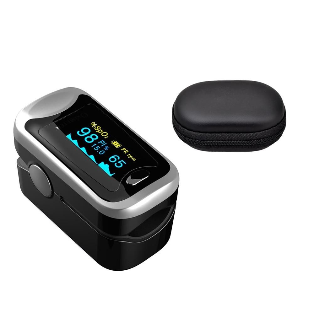 Digital finger oximeter oled pulse oximeter display