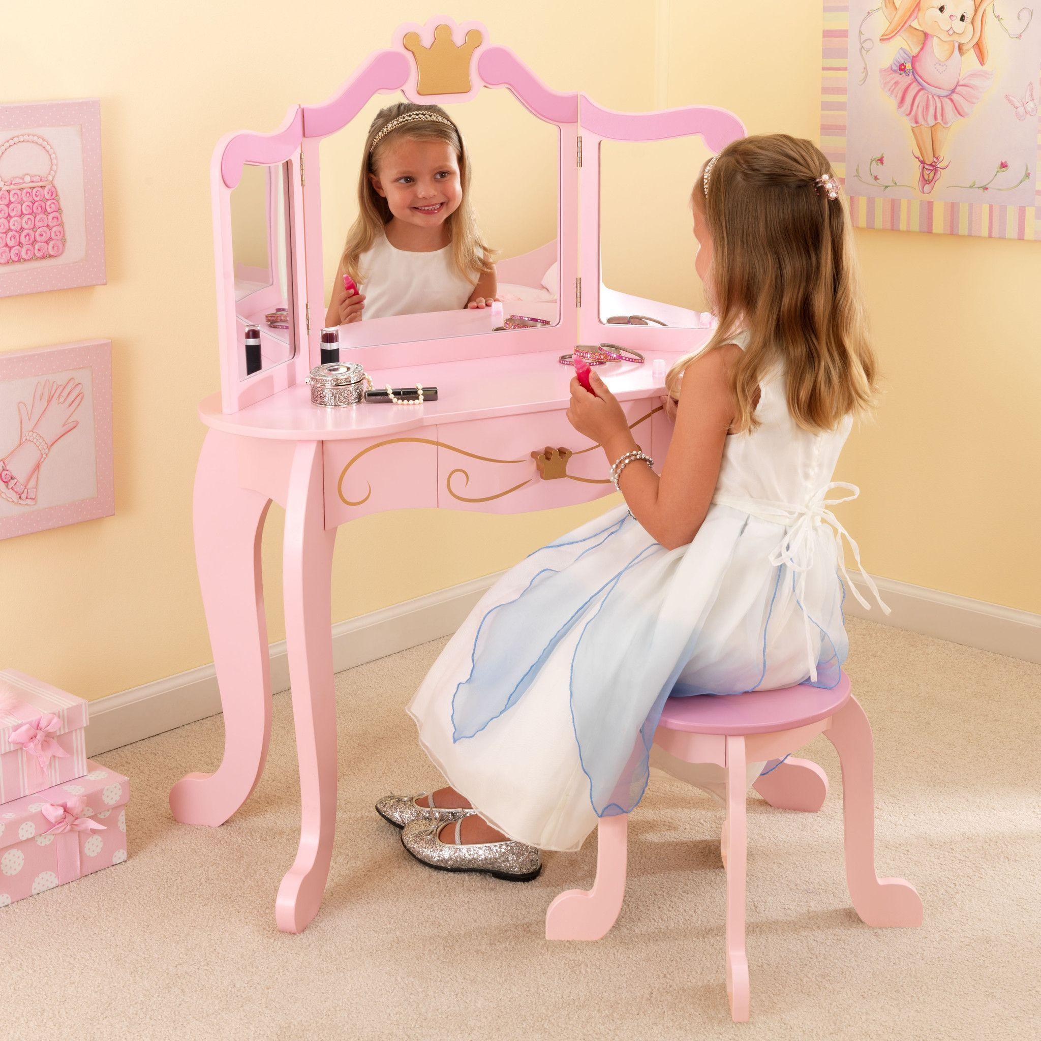 Kid Kraft New Princess Table Stool 76123 Girls Dressing
