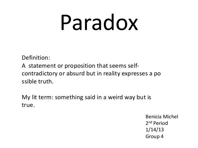 Paradox Literary Devices Pinterest Paradox