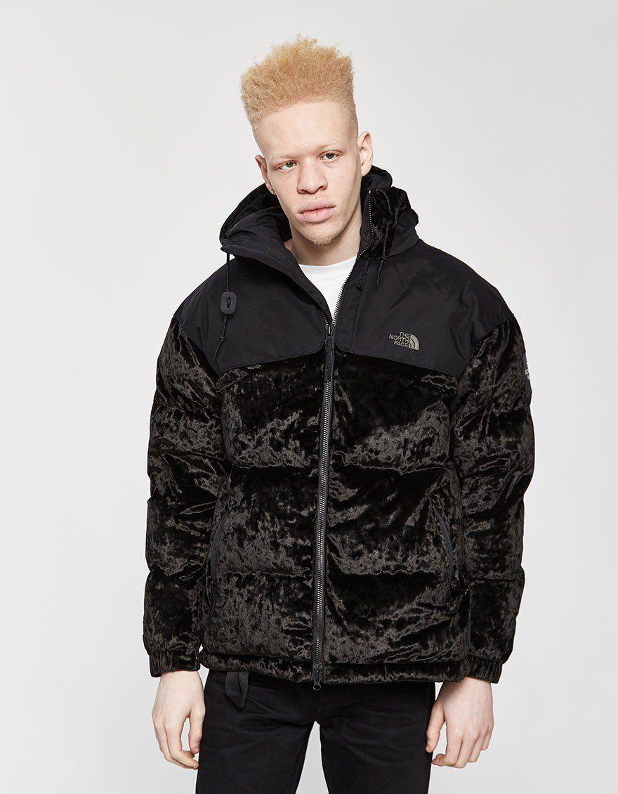 The North Face Black Series Urban Velvet Nuptse Jacket In Tnf Black [ 1130 x 880 Pixel ]