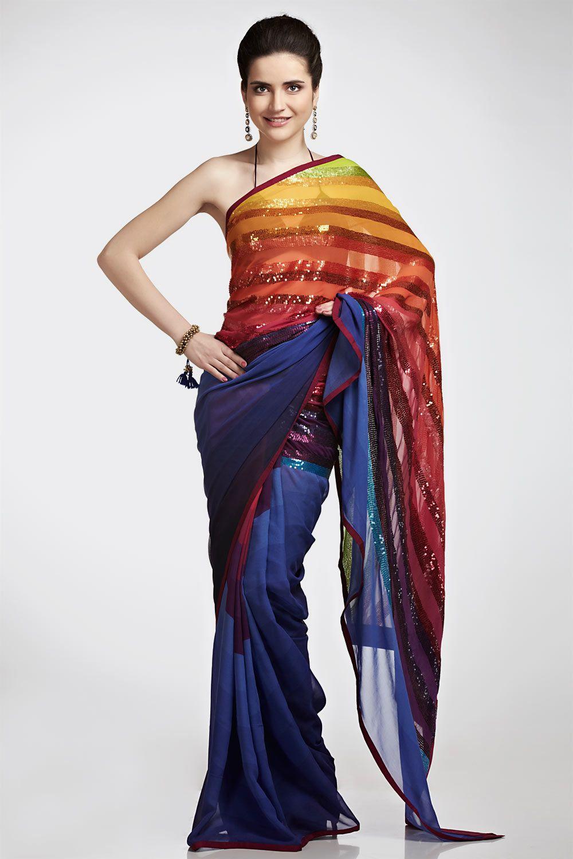 multi coloured digital print saree satya paul n fashion multi coloured digital print saree satya paul