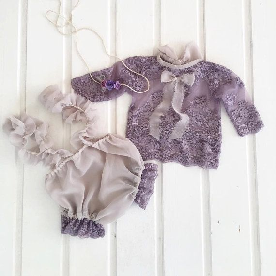 codR5 Lilac set from lace and от 4LittlePrincessProps на Etsy