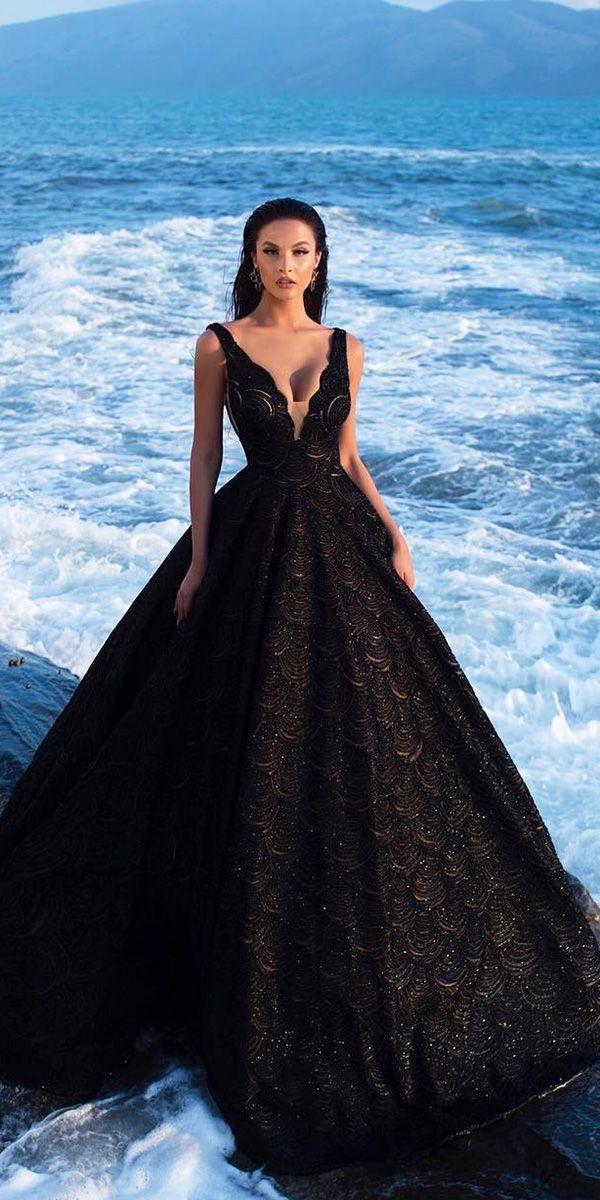 24 Black Wedding Dresses With Edgy Elegance | Wedd