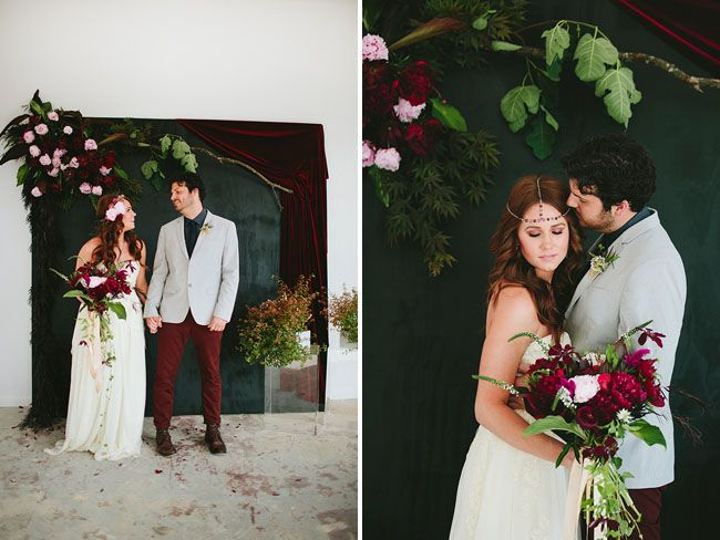 slate and floral backdrop