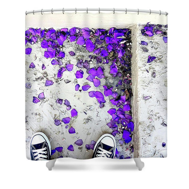 Looking Down On Purple Petals 1 Shower Curtain For Sale By Michael