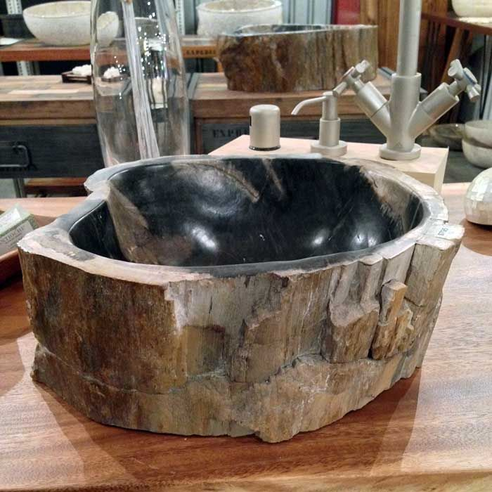 A Beautiful Petrified Wood Vessel Sink From Impact Imports In #Boise And  #Philadelphia