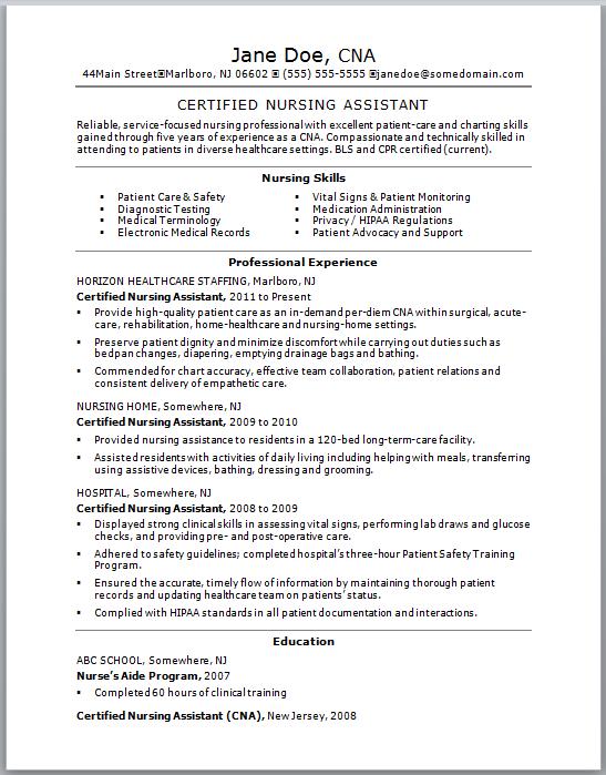 Cna Resume No Experience : resume, experience, Nursing