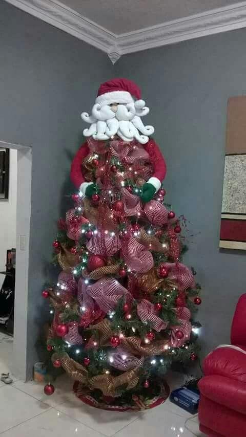Papá noel copa de árbol de navidad. 1  05780bf80bf